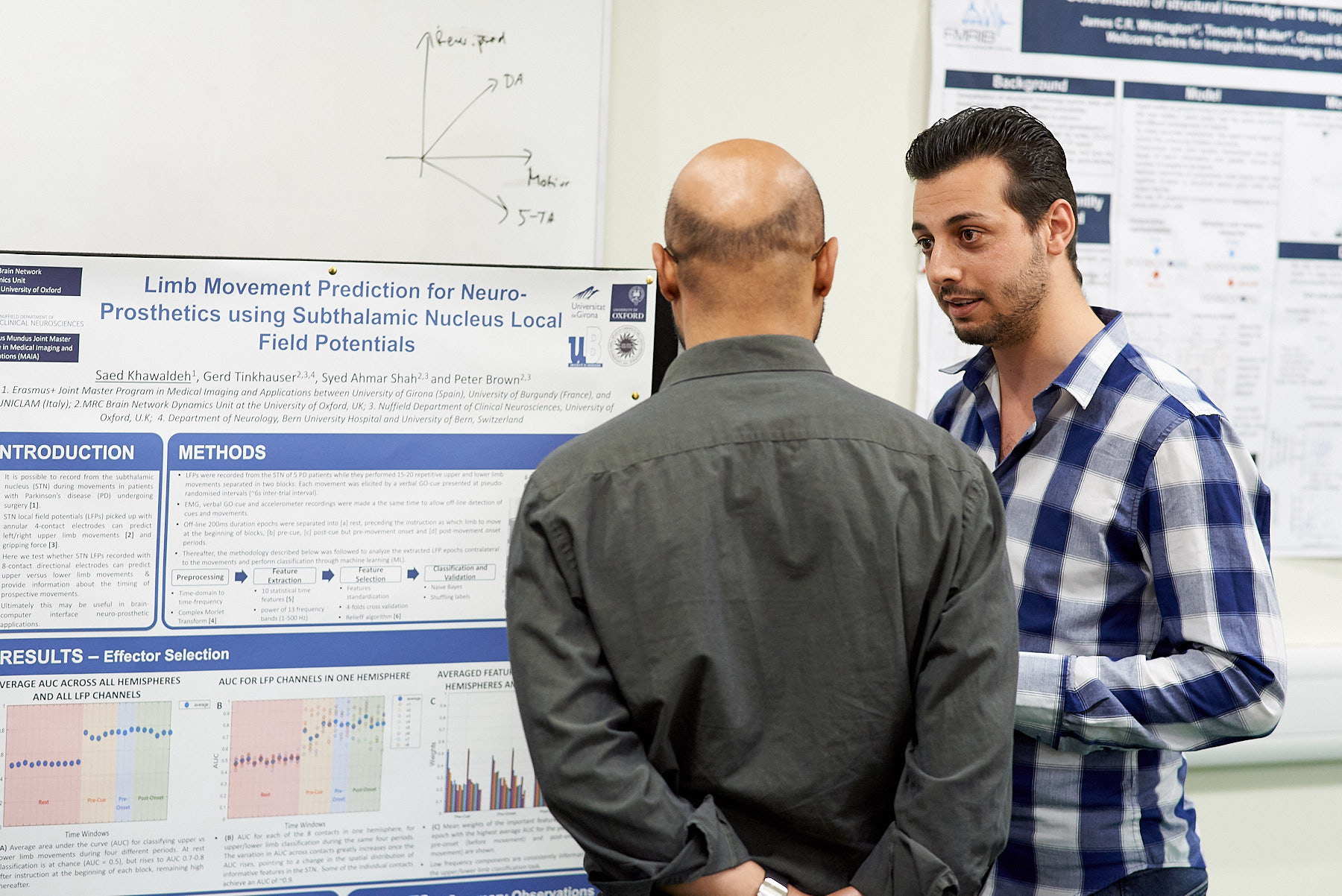 Detailed discussions during the poster session at summer Science Day 2018.