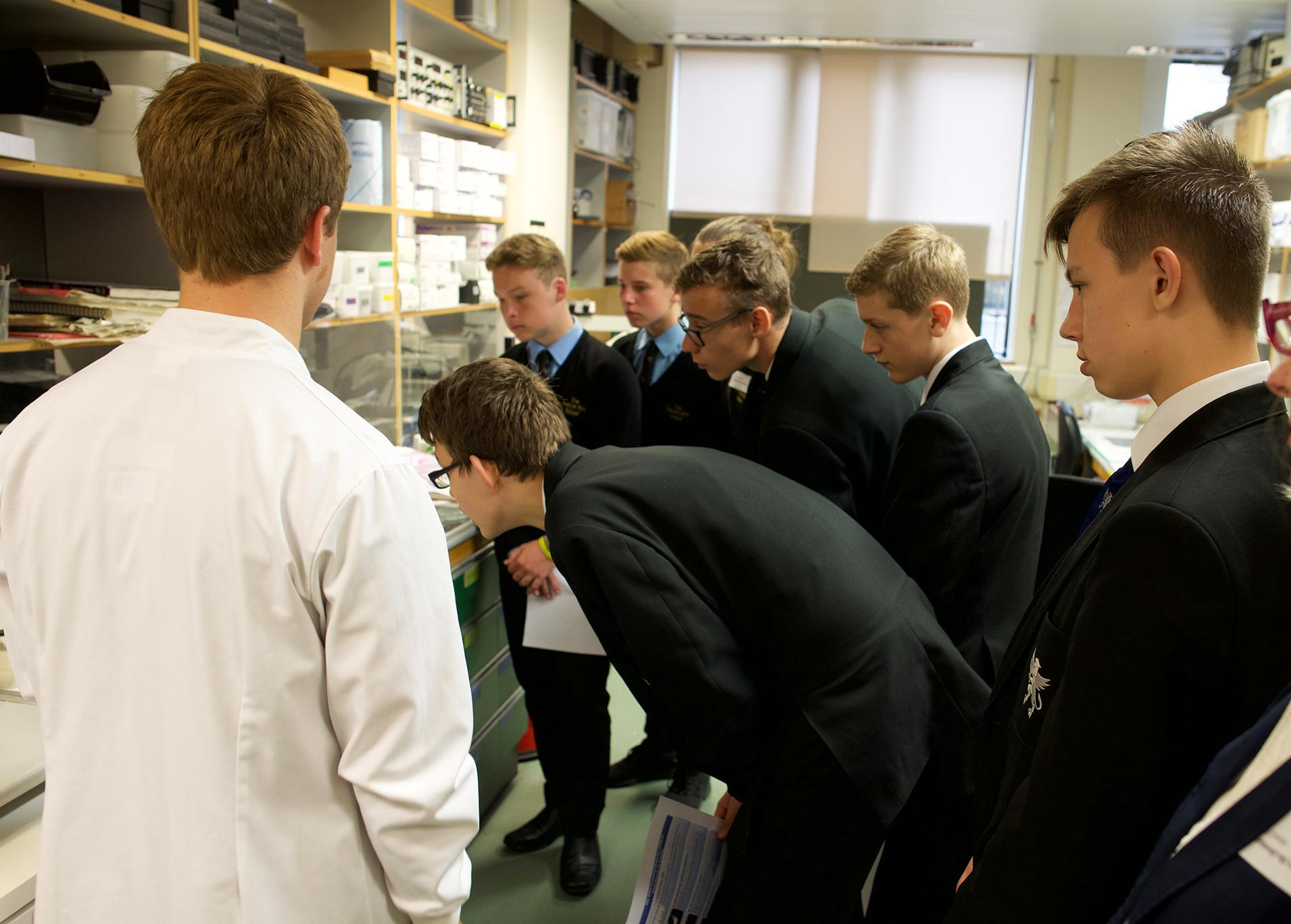 Pupils visited real working labs, where they could see for themselves some of the methods and technologies used in the Unit's research.