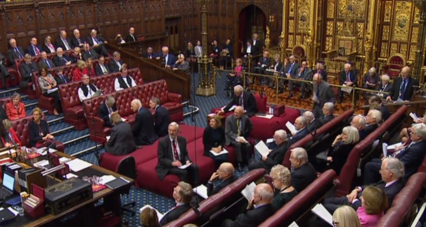 Unit scientist Peter Magill was at the House of Lords to witness democracy and policy in action. Can you spot him in the chamber of the Upper House? Image courtesy of www.parliamentlive.tv