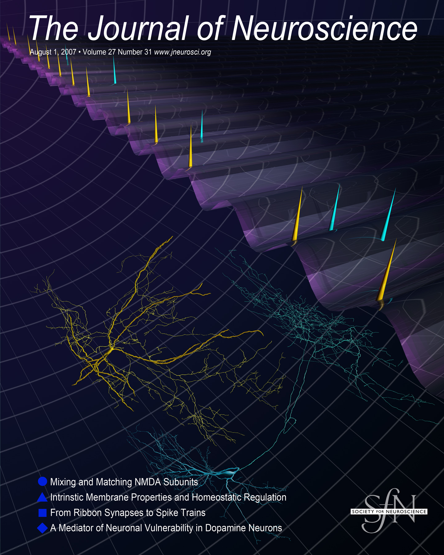 August 1st 2007 cover of Journal of Neuroscience